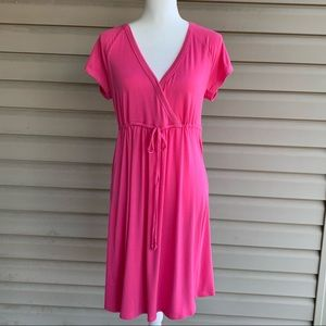 •Nicole Miller• Pink Beach Coverup/Casual Dress-Lg